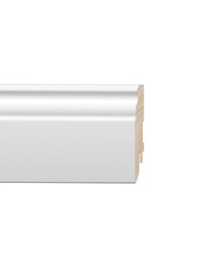 MDF szegélyléc, PURE Naxos, festhető fehér, 16*80*2400 mm