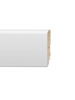 MDF szegélyléc, PURE Furia, festhető fehér, 16*83*2400 mm