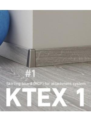 Külső sarok, Ktex 1, acél színű, 58 mm