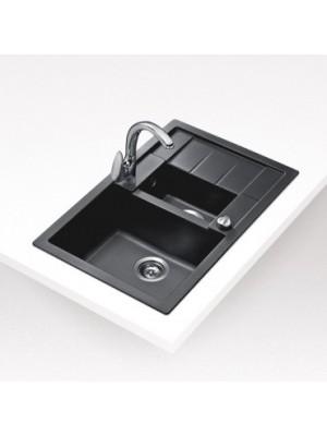 Teka, Astral 60 B TG Metál fekete mosogató, 78*50 cm