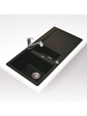 Teka, Lugo 60 B TG Metál fekete mosogató, 100*50 cm