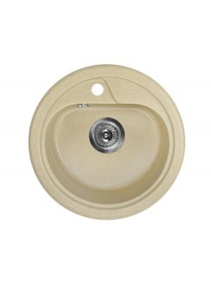 Deante, Fiesta, gránit mosogató, 1 medencés, kör alakú, homok színben 45*17 cm ZRS 7803 I.o.