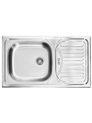 Deante, Twist, rozsdamentes acél mosogató, 1 medencés 76*43,5*16 cm ZEU 0110 I.o.