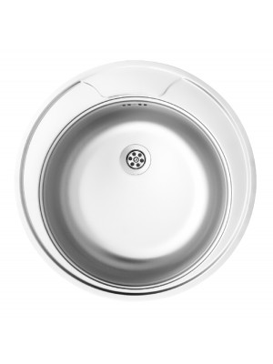 Deante, Twist, rozsdamentes acél mosogató, 1 medencés kör alakú 48*15 cm ZEU 0810 I.o.