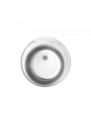 Deante, Twist, rozsdamentes acél mosogató, 1 medencés kör alakú 49*17 cm ZEU 0810 I.o.