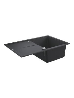 Grohe, K400 gránit mosogató, 1 medencés, gránit fekete, 78*50 cm 31639AP0