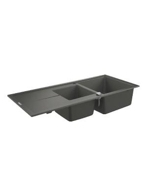 Grohe, K400 gránit mosogató, 2 medencés, gránit szürke, 116*50 cm 31643AT0