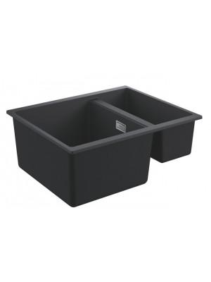 Grohe, K500 gránit mosogató, 2 medencés, gránit fekete, 55,5*46 cm 31648AP0