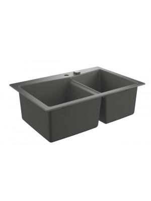 Grohe, K700 gránit mosogató, 2 medencés, gránit szürke, 83,8*55,9 cm 31657AT0