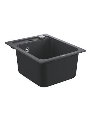 Grohe, K700 gránit mosogató, 1 medencés, gránit fekete, 40*50 cm 31650AP0