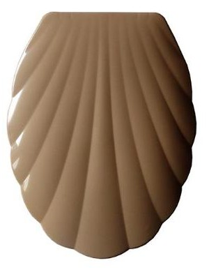 Quadrat 2000, WC ülőke, MŰANYAG, kagyló mintás, caramel, 8008520400746