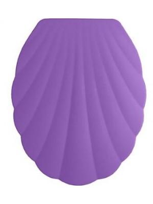 Quadrat 2000, WC ülőke, MŰANYAG, kagyló mintás, purple, 8008520400739