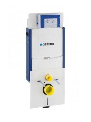 Geberit, Kombifix WC szerelőelem fali WC részére (UP320) öblítőtartállyal, Sigma01 fényes króm nyomólappal 110.319.21.5