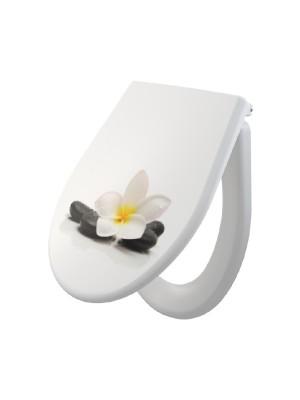 Alcaplast, A604 FLOWER univerzális WC ülőke, Softclose, Duroplast