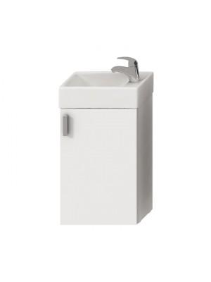 Fürdőszobabútor, Jika, Petit alsószekrény mosdóval, fehér/selyemfényű fehér H4535111753001 I.o.