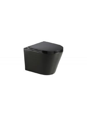 Wellis, Clement Black WC, fali, rimless / perem nélküli, fekete színű WF00070 I.o.