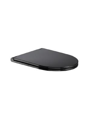 Wellis, Clement Black WC ülőke tetővel, lecsapódásgátlóval, fekete WF00071 I.o.