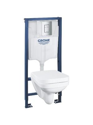 Grohe, Rapid SL szerelőszett, Rimless WC-vel, ülőkével, nyomólappal, 39552000