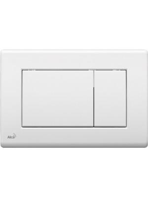 Alcaplast, M270, nyomólap falba építhető tartályhoz, fehér