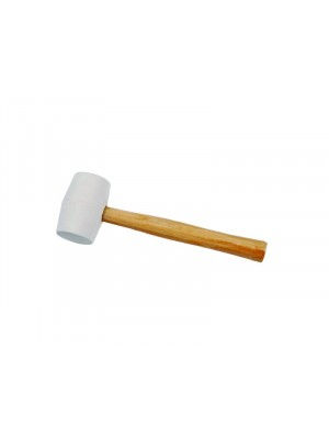 Gumikalapács fehér gumival, fa nyéllel 60mm