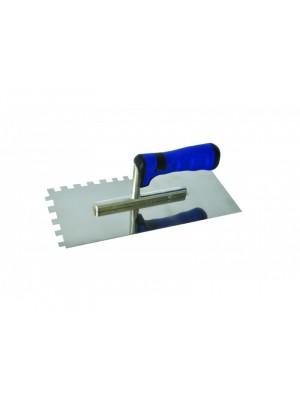 Rozsdamentes glettelő kék SOFT 280x130/12x12mm (inox)