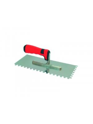 Rozsdamentes glettelő (német, profi) SOFT 280x130/12x12mm