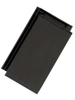Tondach, Figaro XXL kerámia tetőcserép, fekete, engóbozott, 27*45,5 cm