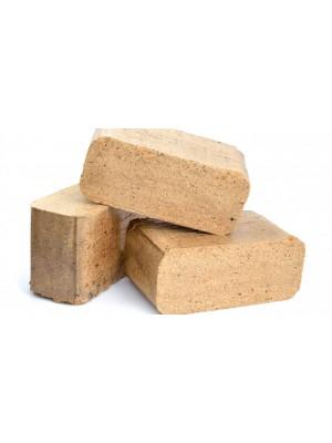 Fabrikett (bükk), szögletes RUF típusú, 12 darab 10 kg-os csomagolásban, tisztabükk fűrészporból