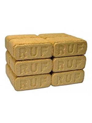 Fabrikett (bükk 87%, fenyő 13%), szögletes, RUF tipusú, 10 kg/csomag, 12 db-os csomagolásban