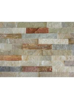 Falburkoló (valódi, természetes, hasított kőlapok táblákra ragasztva), Piemondo CS081, 15*60 cm I.o.