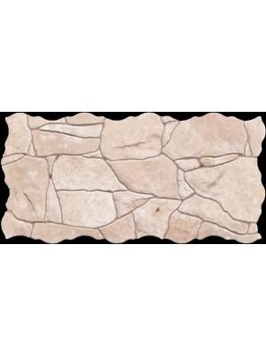 Falburkoló / Padlólap, Keros BG Piedra Beige szabálytalan alakú lap, 23*46 cm I.o.