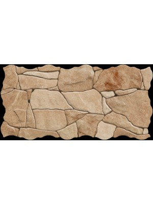 Falburkoló és Padlólap, Keros BG Piedra Cuero szabálytalan alakú lap, 23*46 cm I.o.