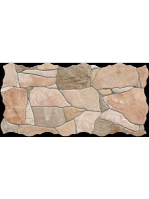 Falburkoló / Padlólap, Keros BG Piedra Natural, szabálytalan alakú lap, 23*46 cm I.o.
