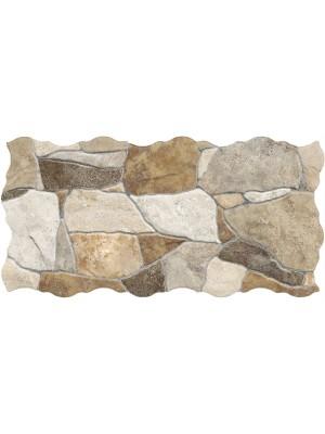 Falburkoló / Padlólap, Keros BG Piedra Mix szabálytalan alakú lap, 23*46 cm I.o.