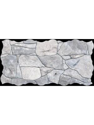 Falburkoló / Padlólap, Keros BG Piedra Gris szabálytalan alakú lap, 23*46 cm I.o.