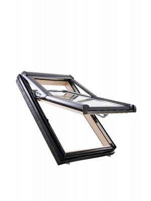 Roto, Tetőtéri ablak, WDF R79 H WD, 3-rétegű üveggel, Hőszigetelő Csomaggal, 74x140 cm (7/14)
