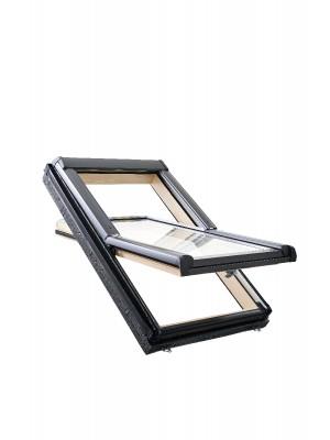 Roto, Tetőtéri ablak, WDF R45 H WD, 2-rétegű üveggel, Hőszigetelő Csomaggal, 74x140 cm (7/14)