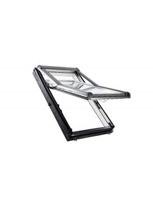 Roto, Tetőtéri ablak műanyag, WDF R79 K WD, 3-rétegű üveggel, Hőszigetelő Csomaggal, 74x140 cm (7/14)