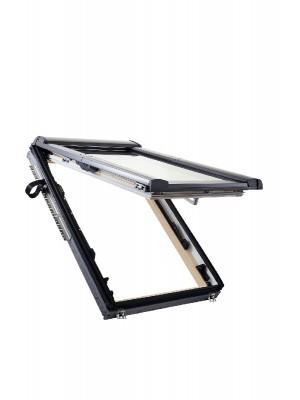 Roto, Tetőtéri ablak, WDF R89P H WD, 3-rétegű üveggel, Hőszigetelő Csomaggal, 74x140 cm (7/14)
