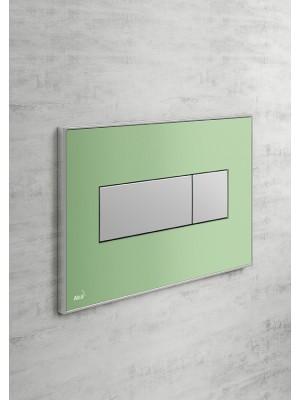 Alcaplast, M1372 zöld-matt nyomólap falba építhető tartályhoz