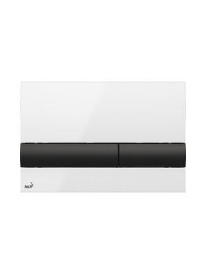 Alcaplast, M1710-8 fehér/fekete nyomólap falba építhető tartályhoz