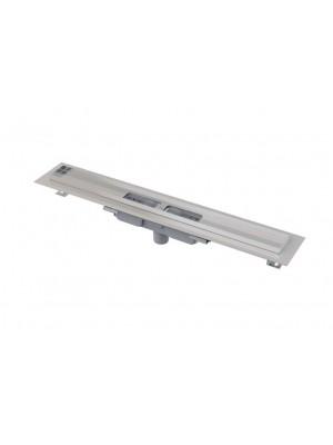 Alcaplast, APZ1101 Low Zuhanyfolyóka, peremmel, perforált rácsokhoz, függőleges lefolyóval, 650 mm