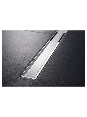 Geberit, CleanLine 20 zuhanyfolyóka, fényes, szálcsiszolt rozsdamentes acél (154451KS1) 154.451.KS.1