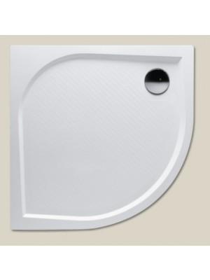 Riho, Kolping öntött márvány íves zuhanytálca, DB14, 90*90*3 cm