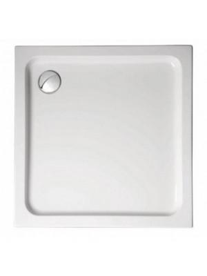 Star Acryl szögletes zuhanytálca 80x80x6 cm, láb nélkül, fehér