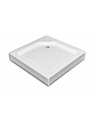 Sanimix, zuhanytálca 21.05.05, akril, szögletes, fém lábbal 90x90x14 cm