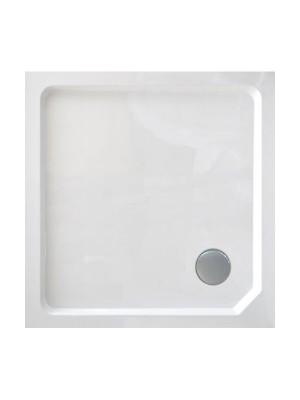 Wellis, SMC magas, szögletes, zuhanytálca WC00409, szifonnal 90*90*14 cm