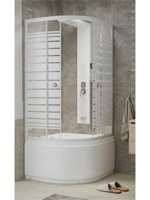 Sanimix, Negyedköríves mélytálcás zuhanykabin 90x90x205 cm, 22.44.5
