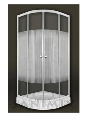 Sanimix, Negyedköríves zuhanykabin csíkos üveggel 90x90x200 cm, 22.1502 W