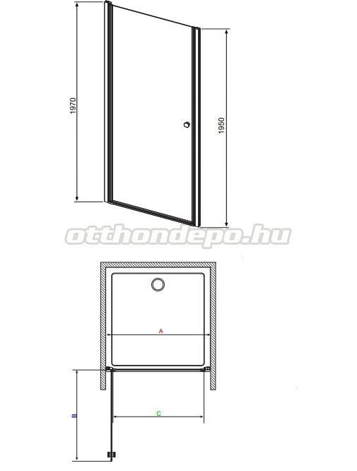 radaway eos dwj zuhanyajt 70 197 cm otthon depo web ruh z. Black Bedroom Furniture Sets. Home Design Ideas